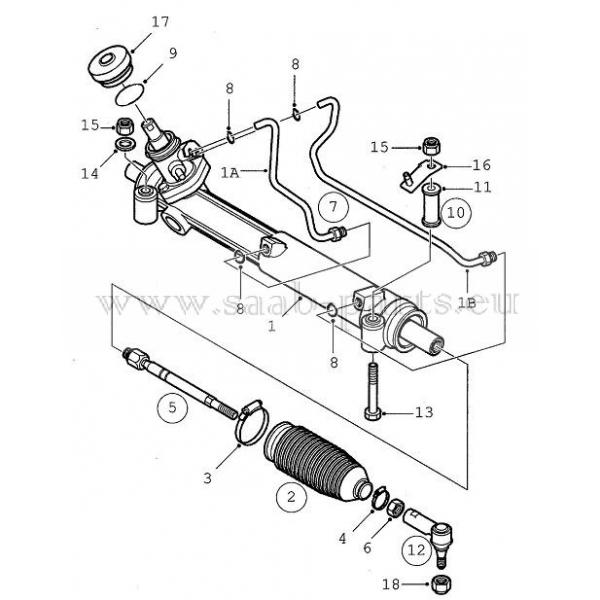 Lenkgetriebe Saab Parts 9 5 1998