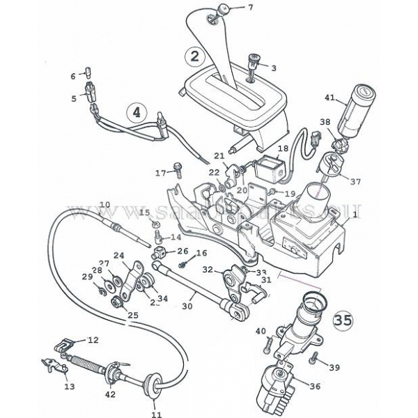 schaltung automatik saab parts 900 typ 2 1994 1998. Black Bedroom Furniture Sets. Home Design Ideas
