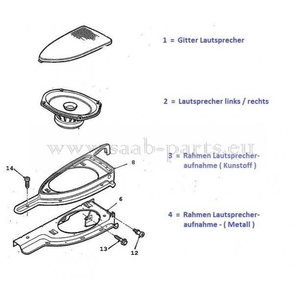 audio hinten saab parts 9 3 typ 1 1998 2003 elektrik lautsprecher hinten 300. Black Bedroom Furniture Sets. Home Design Ideas