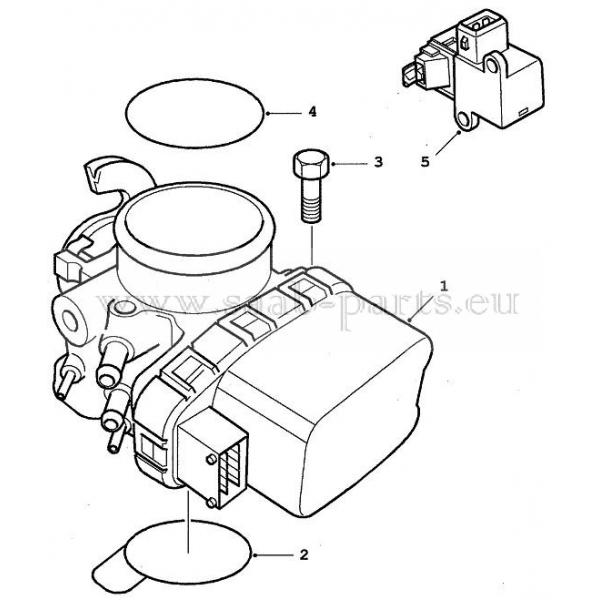 Drosselklappe Saab Parts 9 5 1998