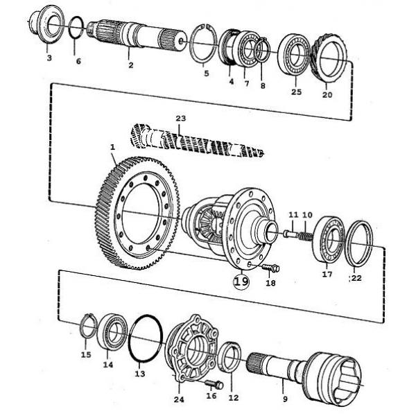 differential  saab teile neu   gebraucht9000   1985