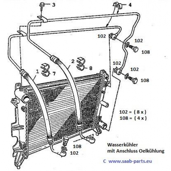 oel k hlung saab parts 900 typ 2 1994 1998 getriebe. Black Bedroom Furniture Sets. Home Design Ideas