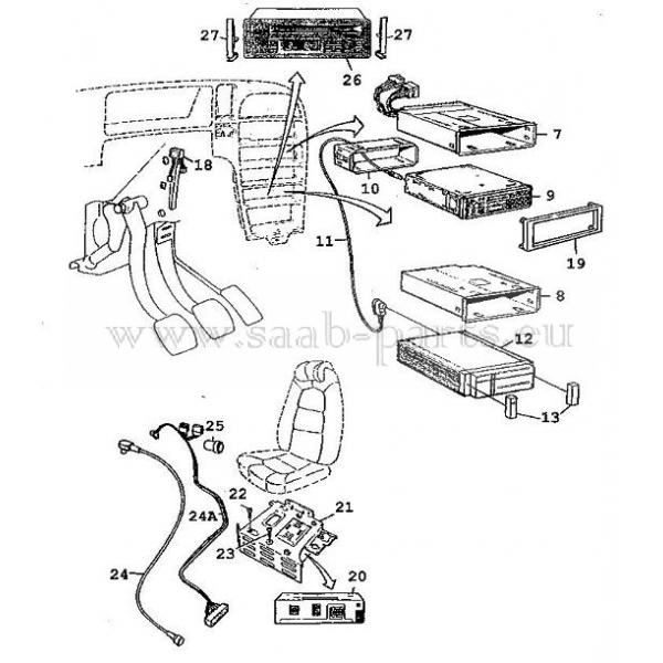 radio  saab parts 9000   1985