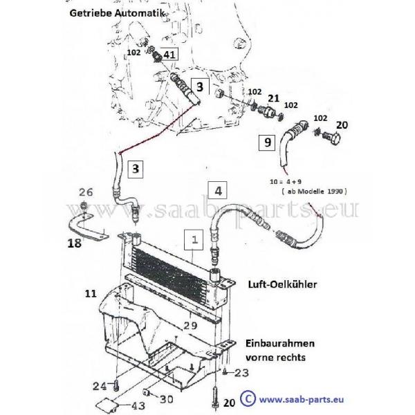 oel k hlung saab parts 900 typ 1 1978 1993 getriebe. Black Bedroom Furniture Sets. Home Design Ideas