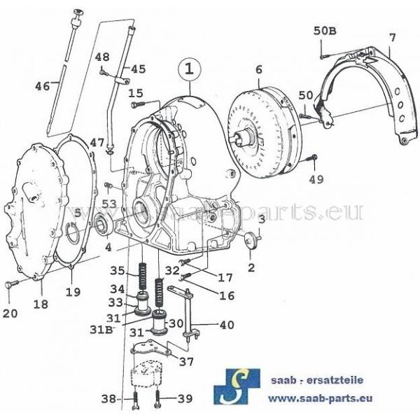 wandlerglocke saab parts 900 typ 1 1978 1993 getriebe. Black Bedroom Furniture Sets. Home Design Ideas
