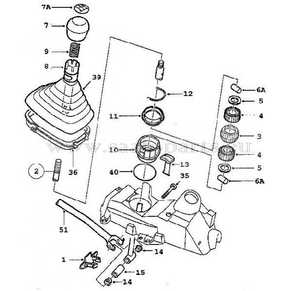 schalthebel stange saab parts 900 typ 2 1994 1998. Black Bedroom Furniture Sets. Home Design Ideas