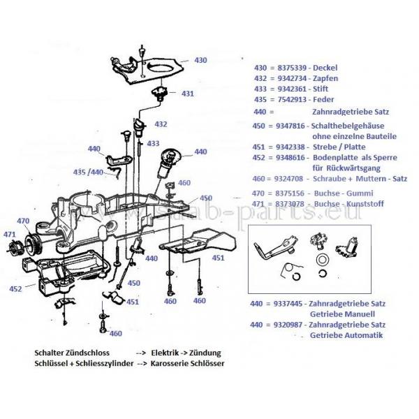 schaltgeh use saab parts 900 1 1978 1993 getriebe. Black Bedroom Furniture Sets. Home Design Ideas