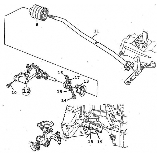 schaltgelenk saab parts 9 3 typ 1 1998 2003 getriebe. Black Bedroom Furniture Sets. Home Design Ideas
