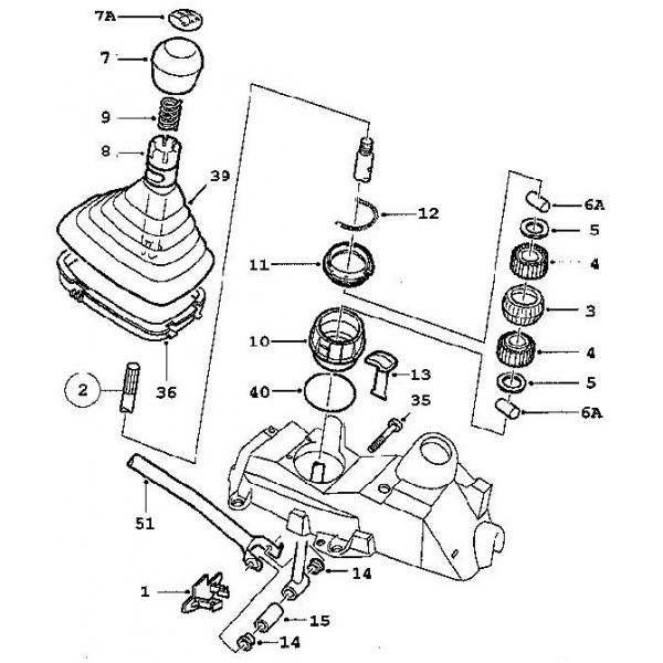 schalthebel - stange  saab parts 9-3 typ-1   1998