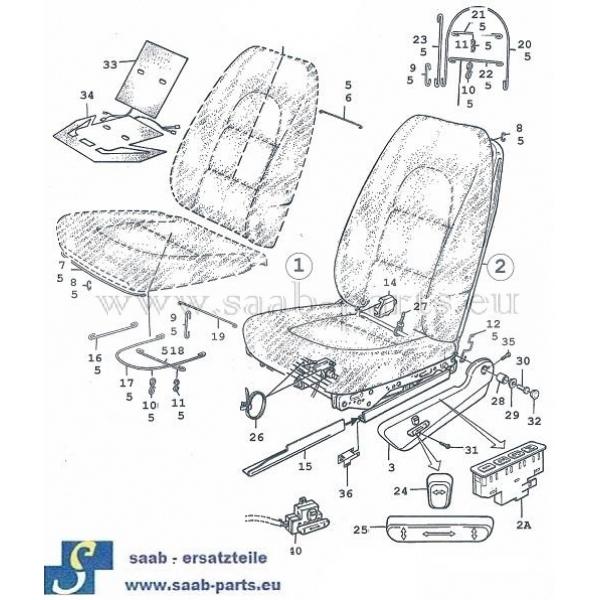 Sitz elektr Tei l - 1: Saab parts 9000 ( 1985 - 1998 )Innén ...