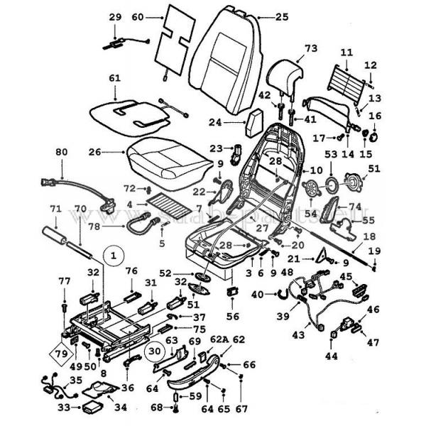 Sitz Elektrisch Saab Parts 9 5 1998