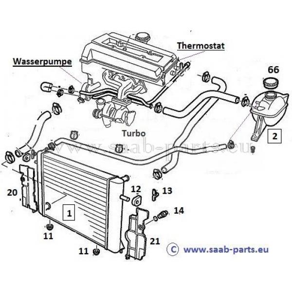 k u00fchler  saab parts 900 typ 2   1994-1998   motoren technik k u00fchlung